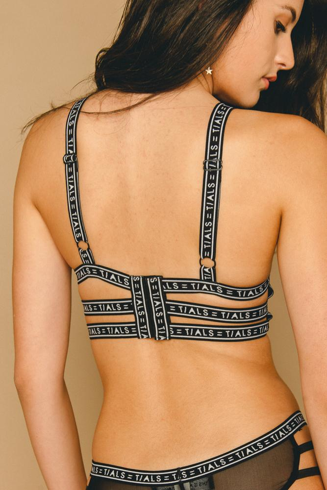 Logo Bondage Bra Classic Black - INTIMATES THIS IS A LOVE SONG
