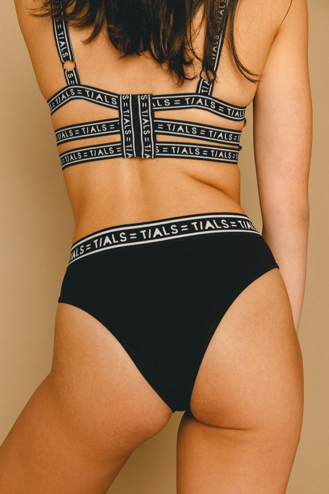 Logo Classic Hi-Cut Panty Black - THIS IS A LOVE SONG