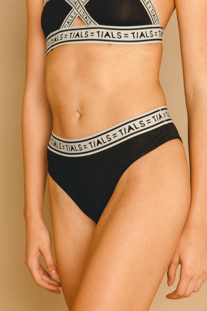 Logo Classic Hi-Cut Panty Black/Grey - INTIMATES THIS IS A LOVE SONG