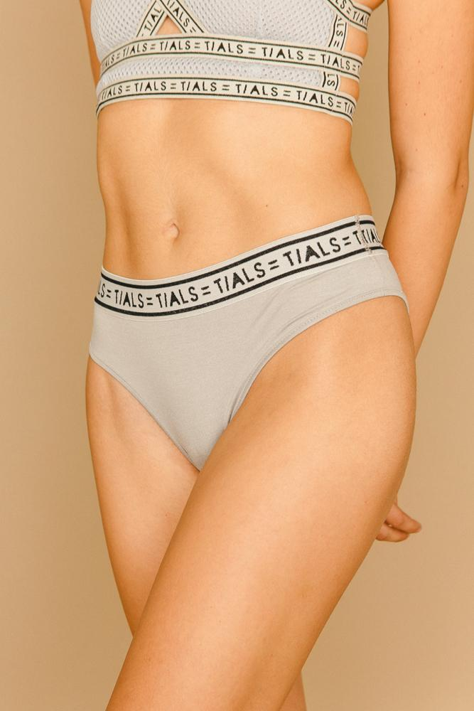 Logo Classic Hi-Cut Panty Grey - THIS IS A LOVE SONG