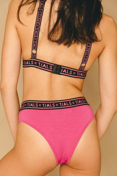 INTIMATES - Logo Classic Hi-Cut Panty: Hot Pink Exclusive