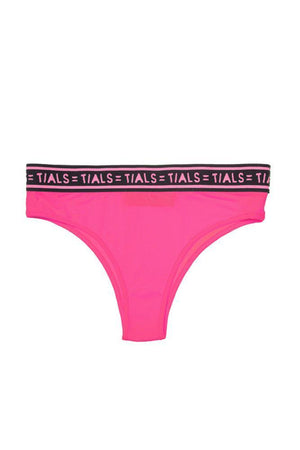 Logo Classic Hi-Cut Panty: Hot Pink Exclusive - INTIMATES THISISALOVESONG