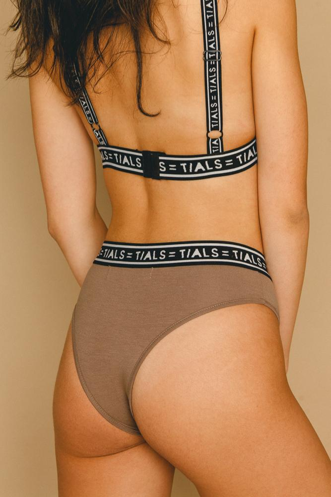 Logo Classic Hi-Cut Panty Toffee - INTIMATES THIS IS A LOVE SONG