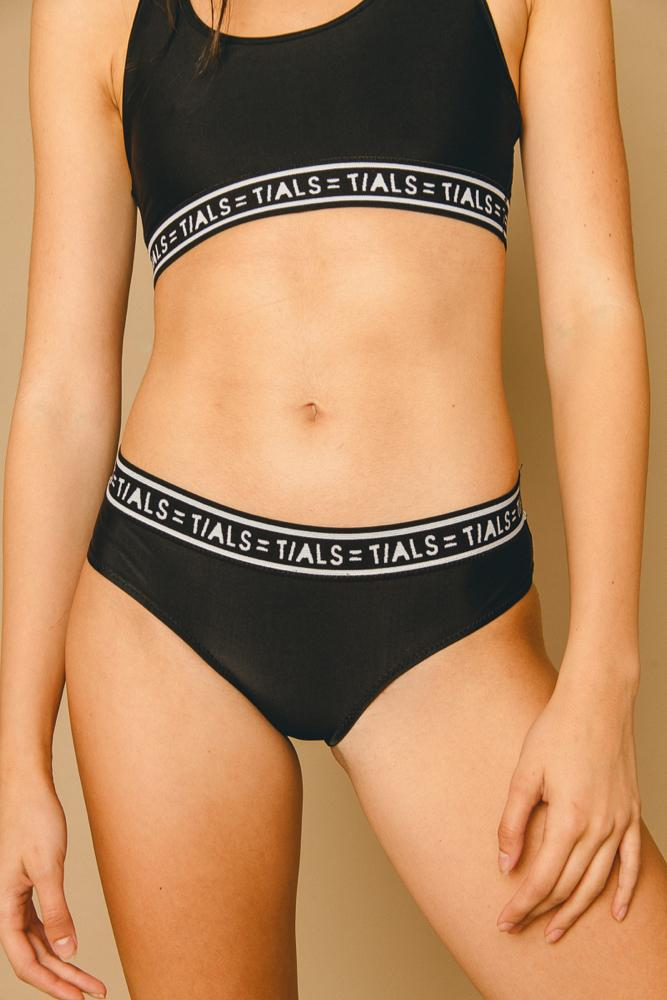 Logo Classic Hipster Panty Black - THIS IS A LOVE SONG