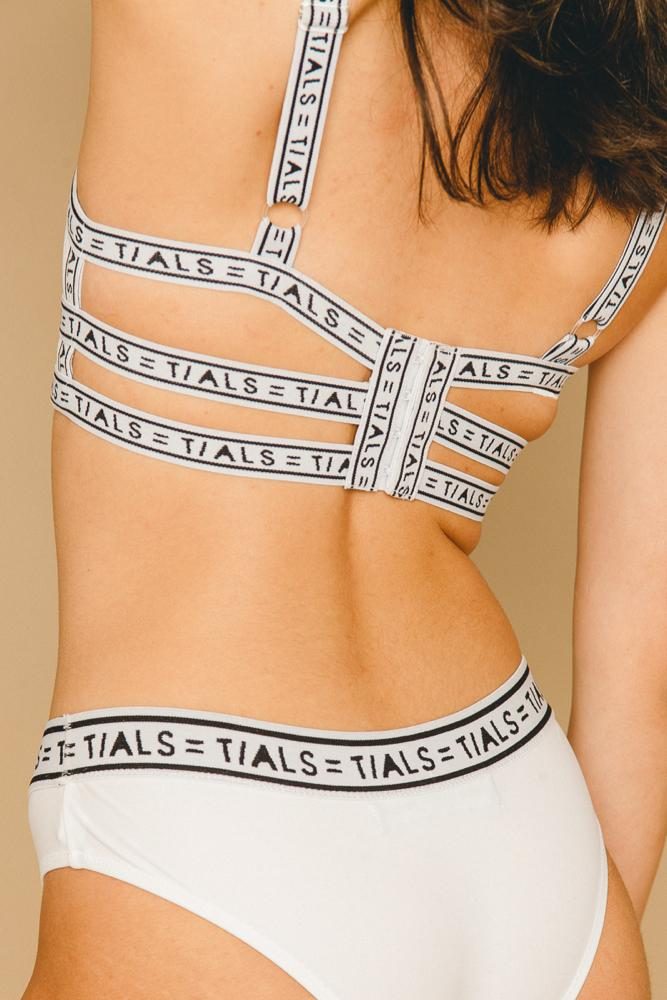 Logo Classic Hipster Panty White - THIS IS A LOVE SONG