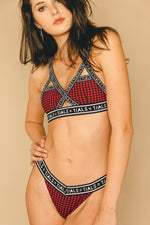 Logo Classic Thong Plaid - THIS IS A LOVE SONG