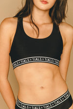 Logo Racerback Bra Black - THIS IS A LOVE SONG