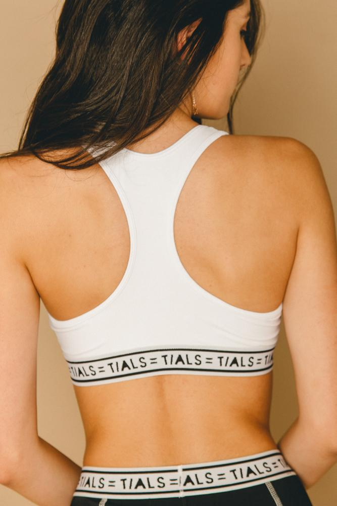 Logo Racerback Bra White - THIS IS A LOVE SONG