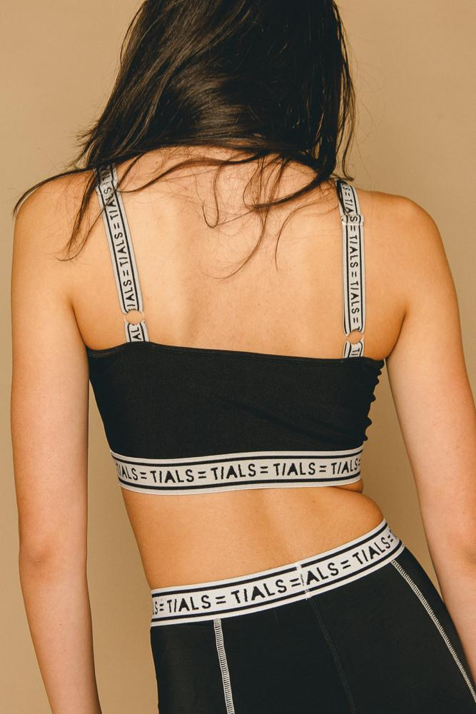 Logo Sport Bra Black - THIS IS A LOVE SONG