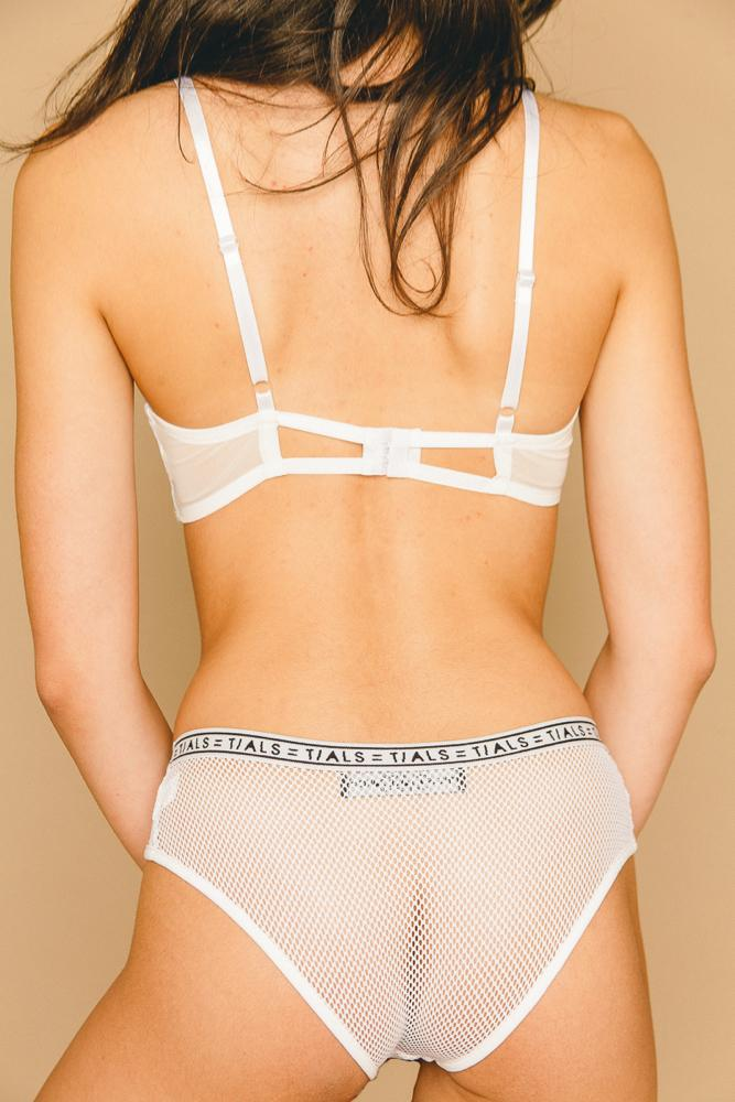 Mesh Hipster Panty White - THIS IS A LOVE SONG
