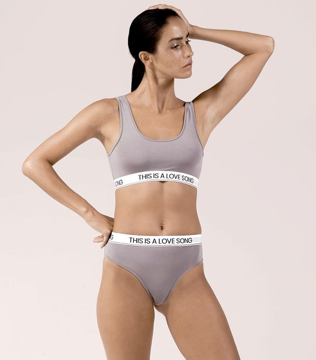 Piper Bra Stone Gray - INTIMATES THIS IS A LOVE SONG