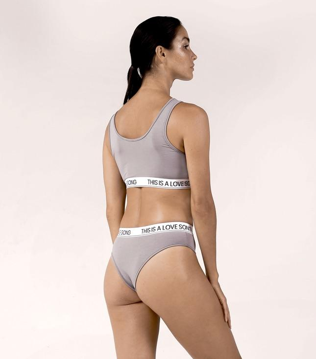 Piper Panty Stone Gray - INTIMATES THIS IS A LOVE SONG