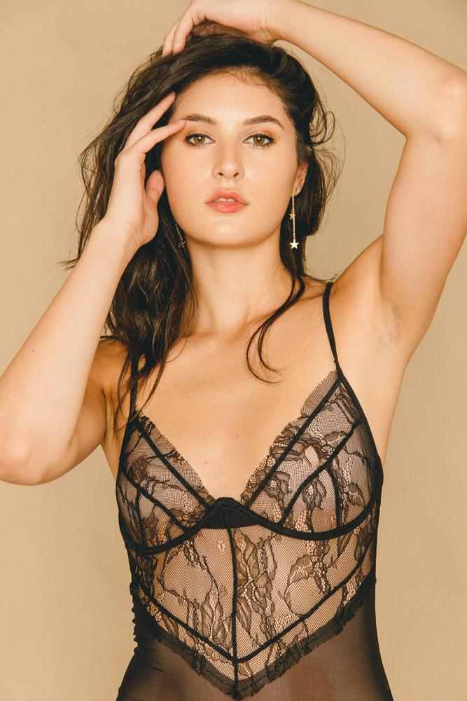 Rosalie Bodysuit Black - THIS IS A LOVE SONG