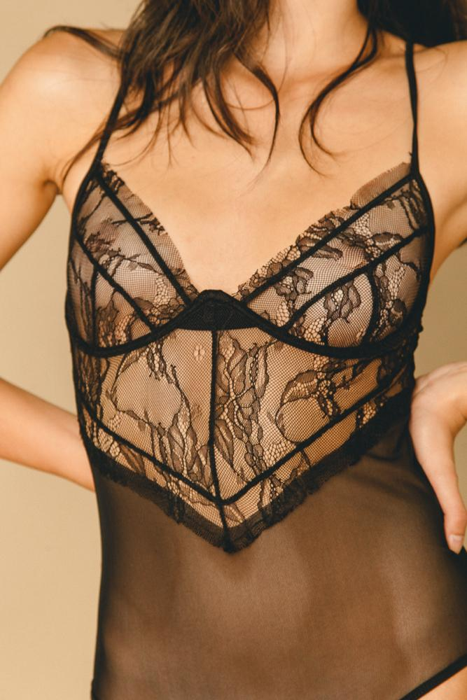 Rosalie Bodysuit Black - INTIMATES THIS IS A LOVE SONG