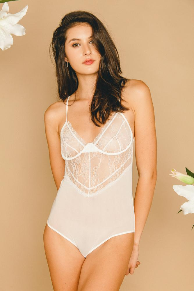 Rosalie Bodysuit White - INTIMATES THIS IS A LOVE SONG