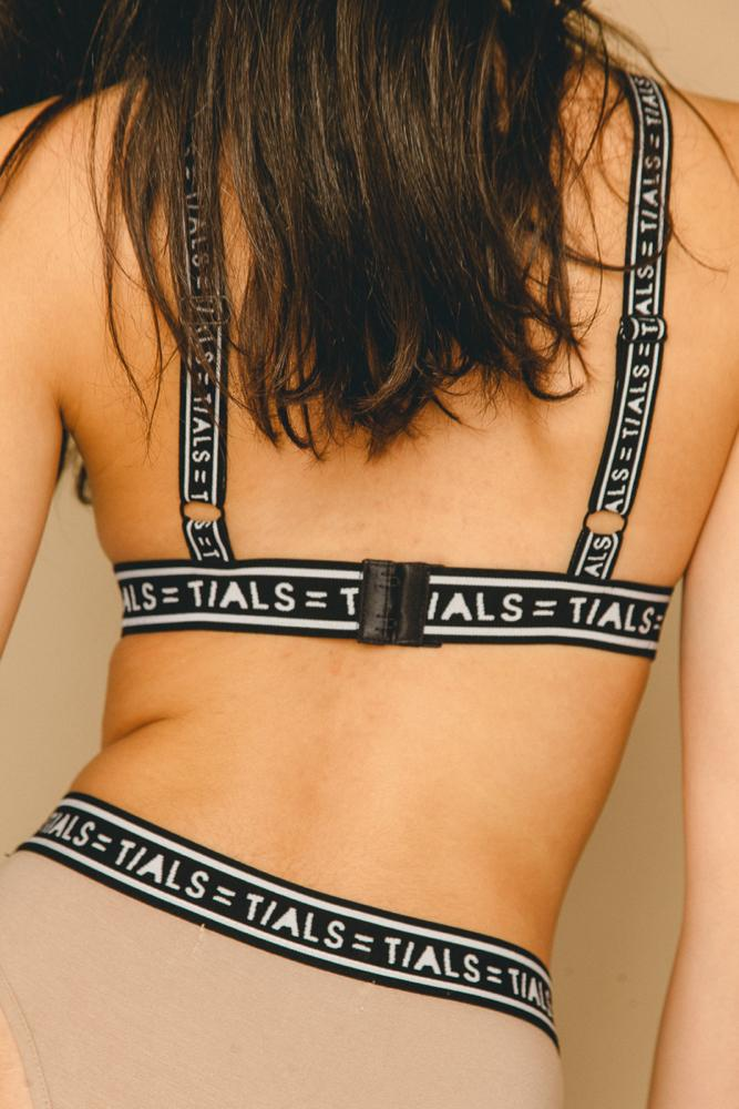 Single Logo Bondage Bra French Vanilla - INTIMATES THIS IS A LOVE SONG