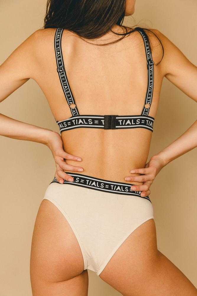 Single Logo Bondage Bra Milk - INTIMATES THIS IS A LOVE SONG
