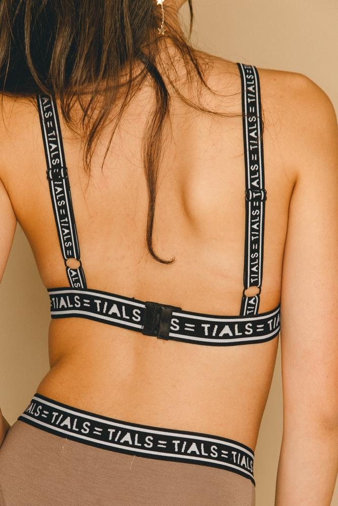 Single Logo Bondage Bra Toffee - INTIMATES THIS IS A LOVE SONG