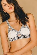 Single Logo Bondage Bra White - INTIMATES THIS IS A LOVE SONG