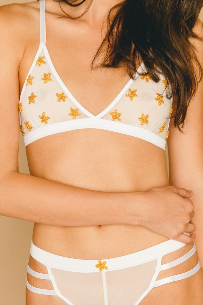 Starry Sequin Bra - INTIMATES THIS IS A LOVE SONG