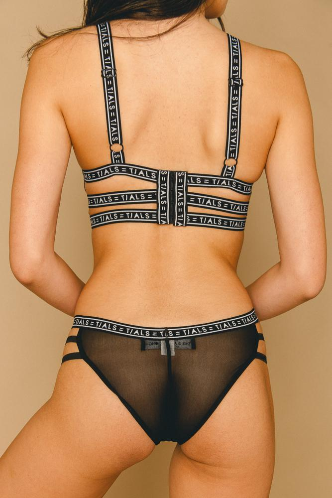 Strappy Bikini Panty Black - THIS IS A LOVE SONG