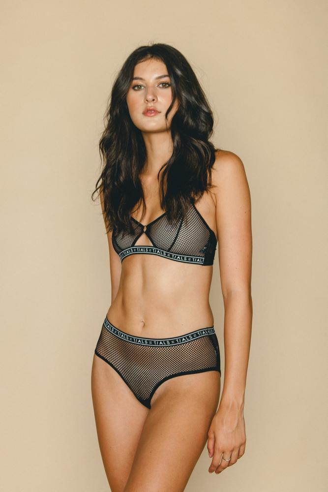 The Mesh Harper Bra Black - INTIMATES THIS IS A LOVE SONG