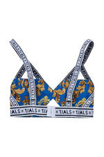 TIALS X Versace Logo Bondage Bra (Blue) - INTIMATES THIS IS A LOVE SONG