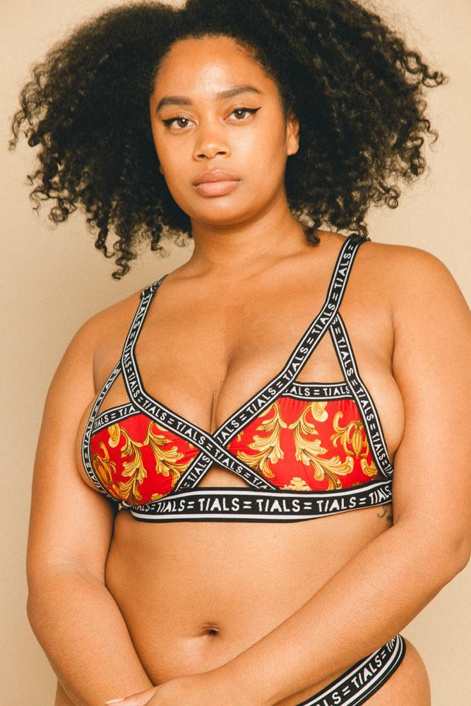 TIALS X Versace Logo Bondage Bra (Red) - INTIMATES THIS IS A LOVE SONG