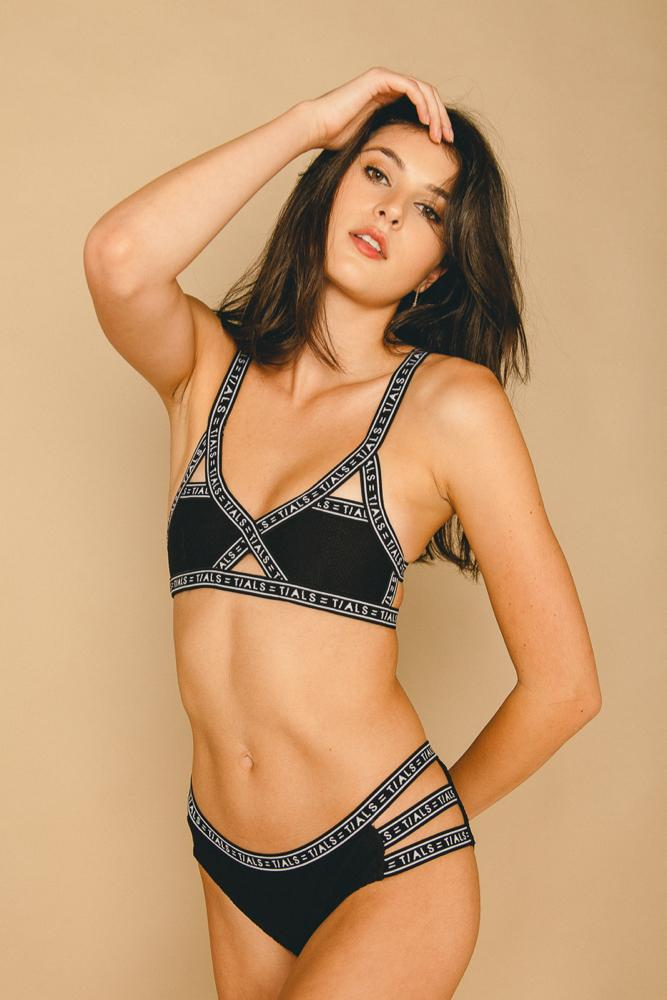 Logo Bikini Classic Black - Top - SWIM THIS IS A LOVE SONG