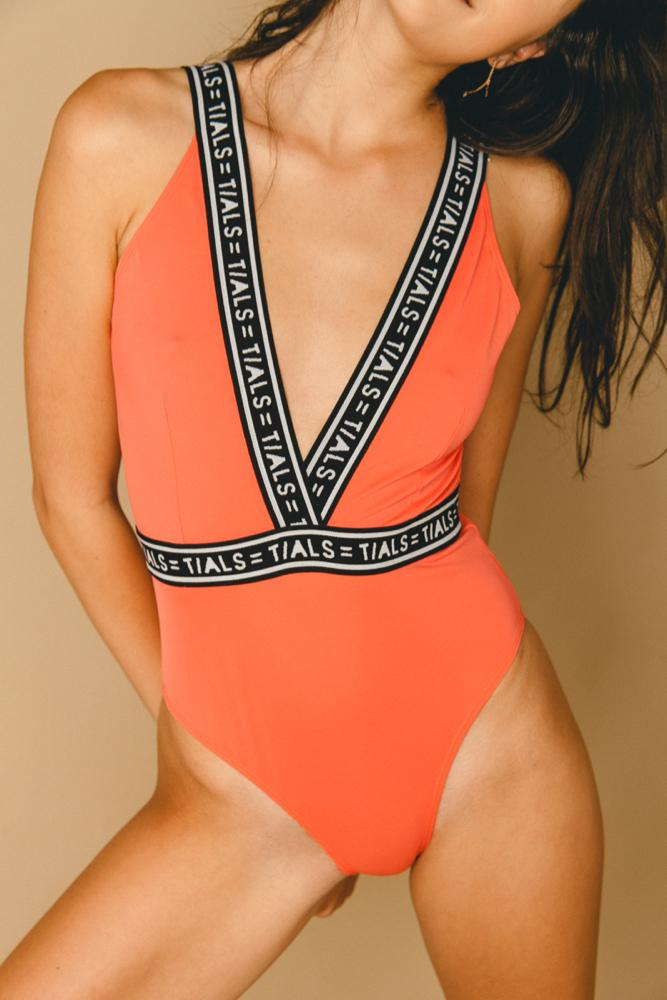 Logo V Swimsuit - SWIM THIS IS A LOVE SONG
