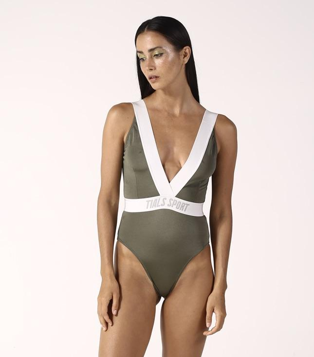Rhea Swimsuit Khaki - SWIM THIS IS A LOVE SONG