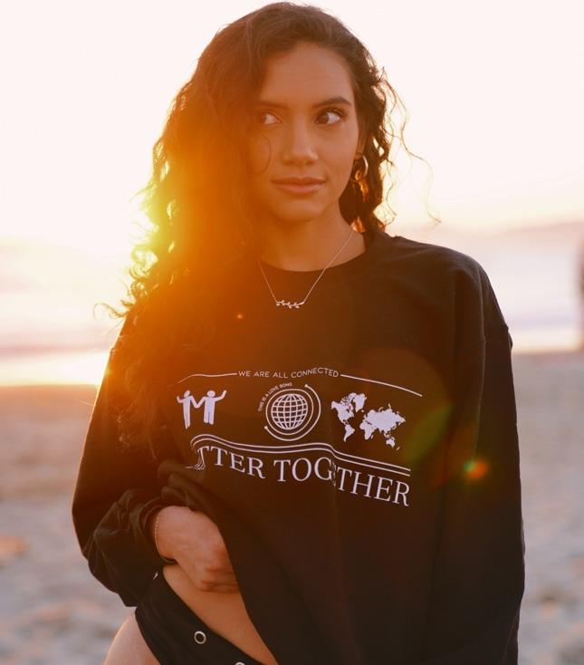 Better Together Sweatshirt (Black) - TOPS THIS IS A LOVE SONG