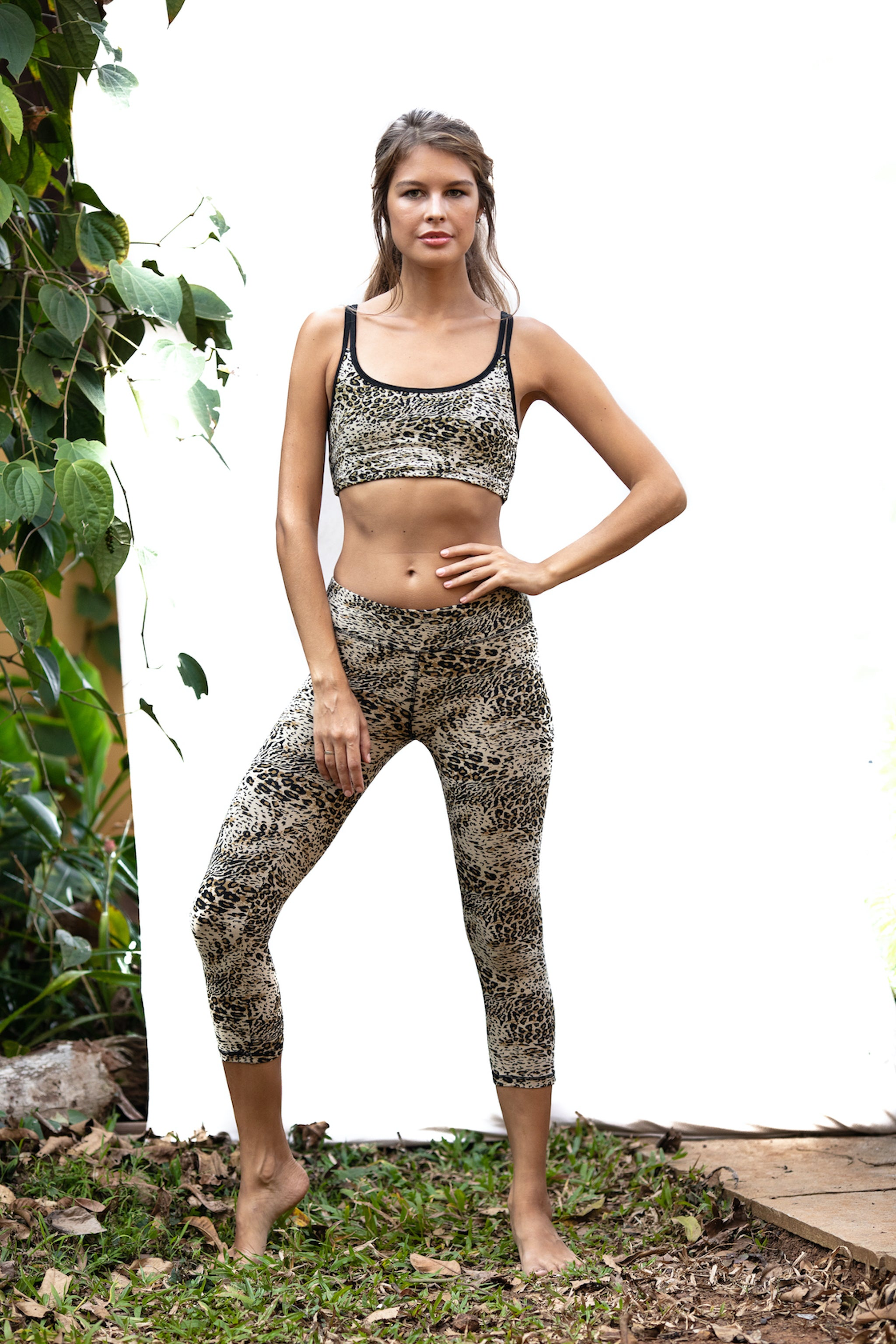 Capri Tights - Leopard