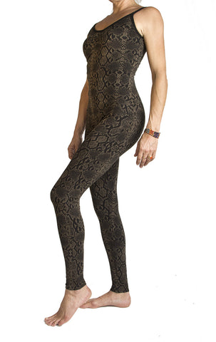 Snake Olive Catsuit - FUNKY SIMPLICITY