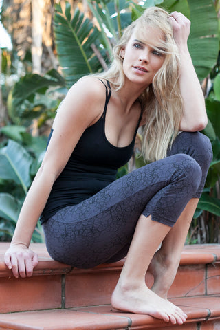 Capri Tights - Cactus Charcoal Black - FUNKY SIMPLICITY