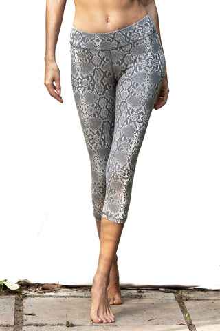 Capri Tights - Snake Grey - FUNKY SIMPLICITY