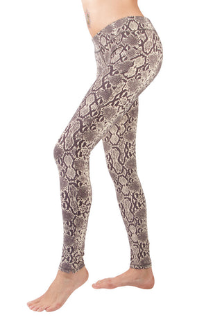 Leggings Snake Cream Brown - FUNKY SIMPLICITY