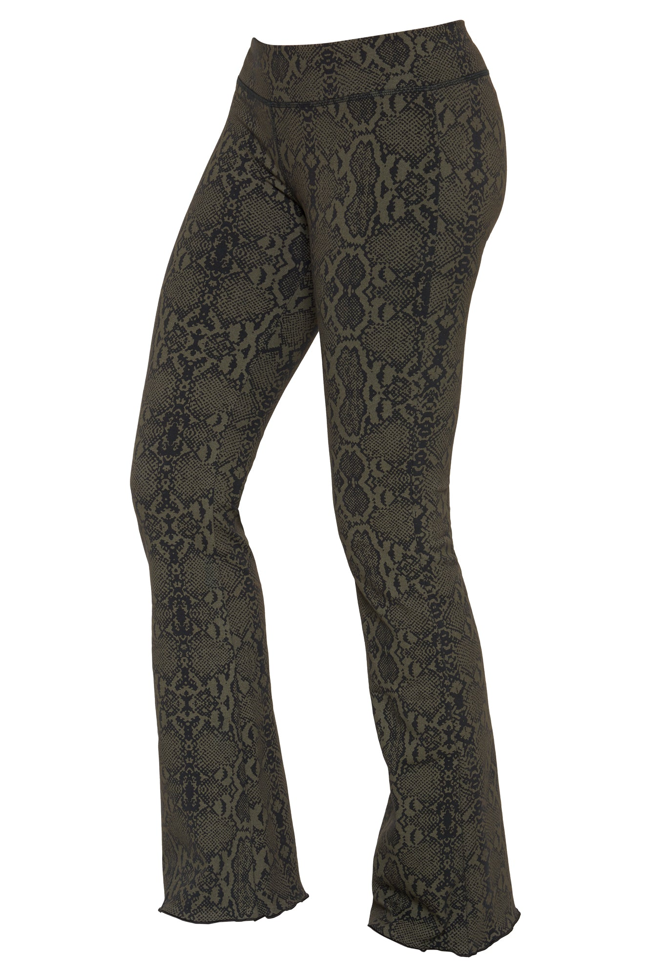 Flared leggings - Snake Black - FUNKY SIMPLICITY