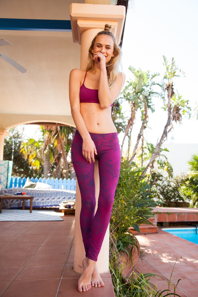 Leggings Lightning Fuchsia Purple - FUNKY SIMPLICITY