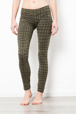 Leggings Cactus Olive-Green Black