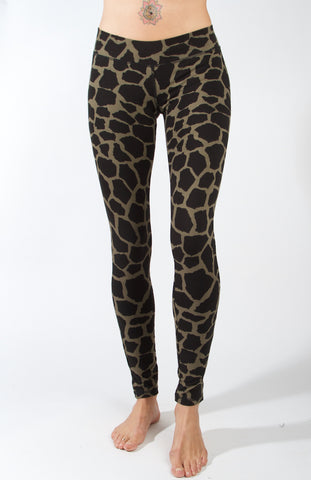 Leggings Giraffe Cream Black