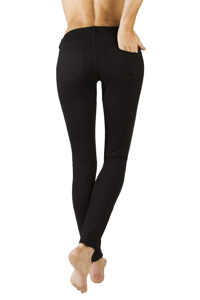 Lycra Jeans Tights, Black. Jeggings - FUNKY SIMPLICITY