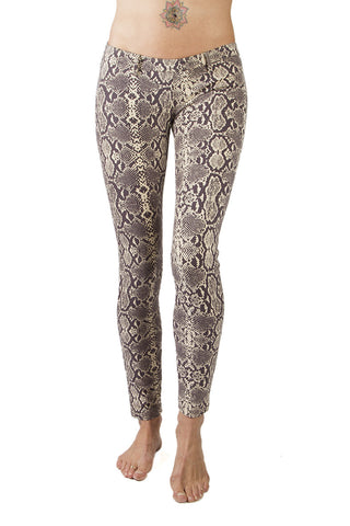 Flared leggings - Snake Black