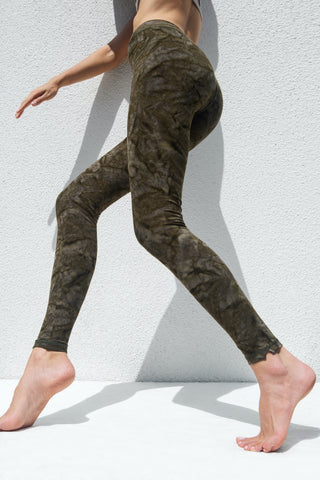 Leggings Snake Yellow Grey