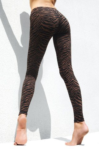 Leggings Brown Zebra