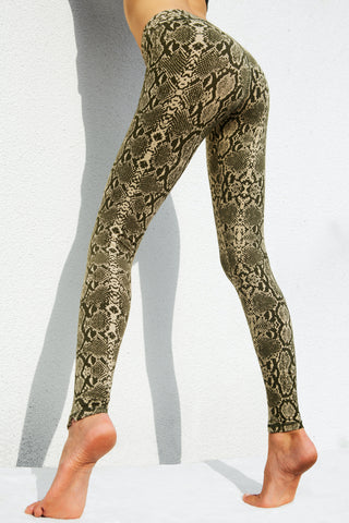 Leggings Crocodile Olive Green