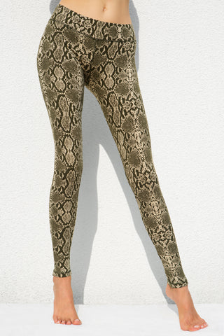 Leggings Snake Cream Olive