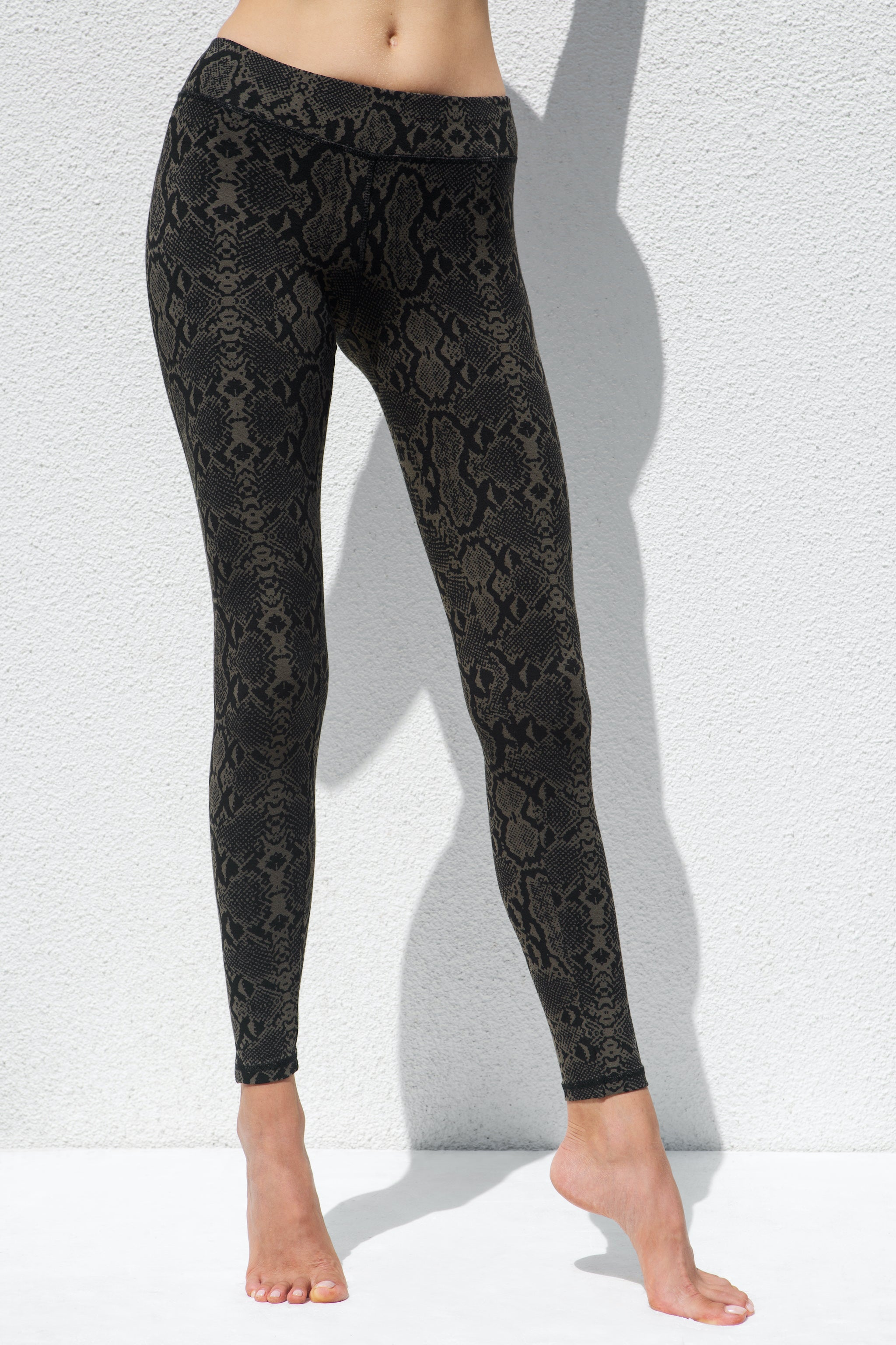 Leggings Snake Olive Green