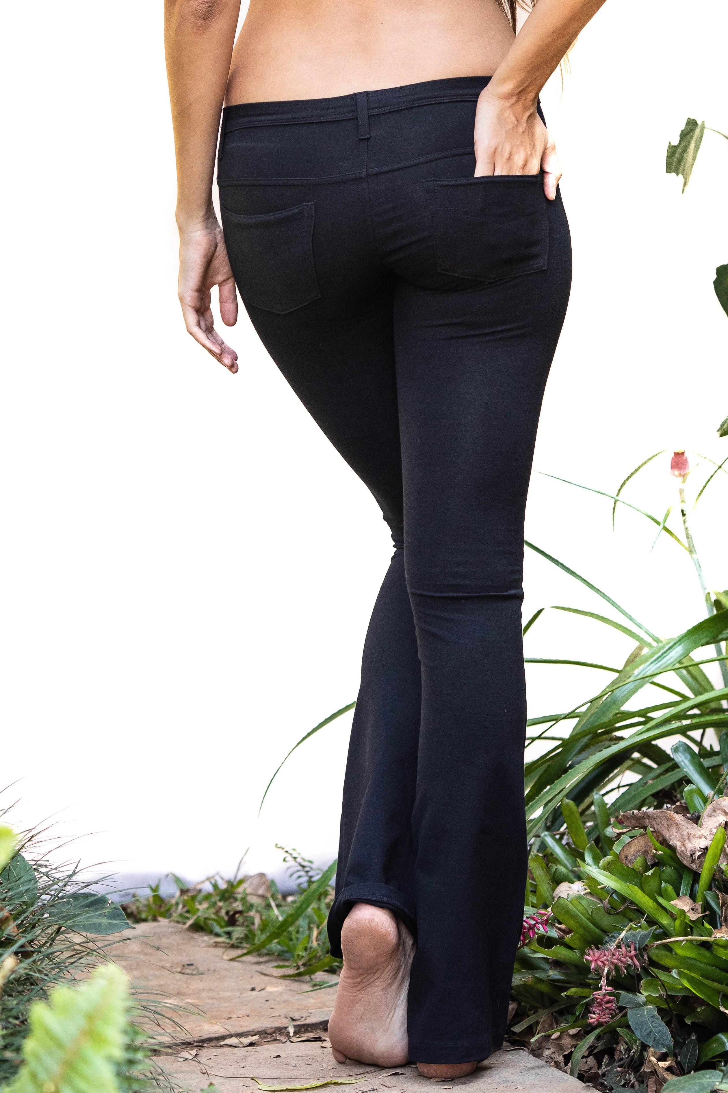 Jeans Flares - Black - FUNKY SIMPLICITY