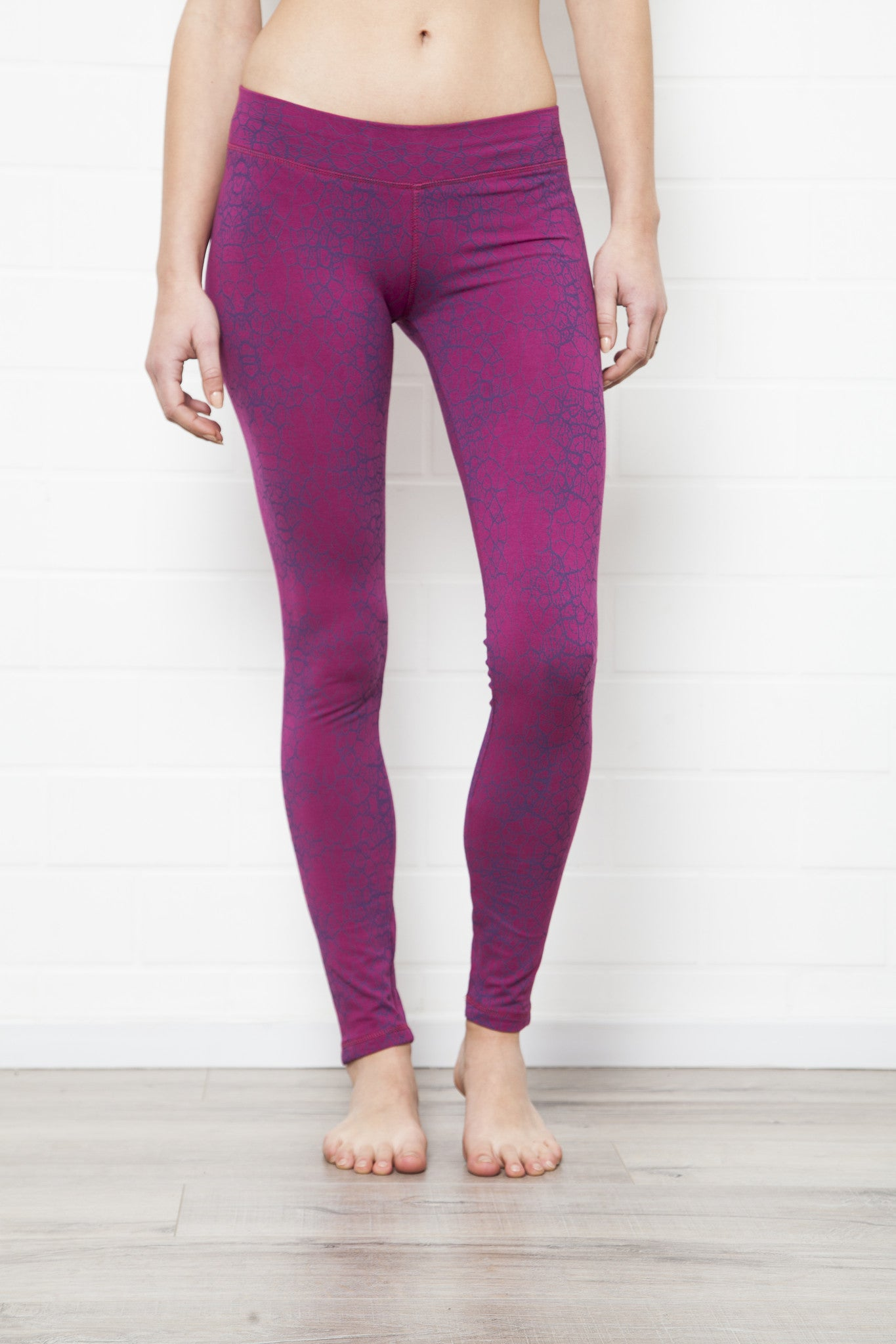 Cactus Fuchsia Purple Leggings Tight - FUNKY SIMPLICITY